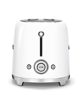 Smeg Tsf02 4 Slice 2 Slot Toaster, White by Smeg