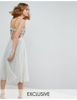 Needle & Thread Cami Strap Midi Dress With Open Back by Needle & Thread