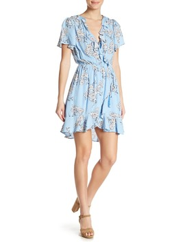 Floral Ruffle Wrap Dress by Elodie