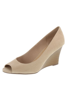 Women's Kylee Peep Toe Wedge by Learn About The Branddexflex Comfort