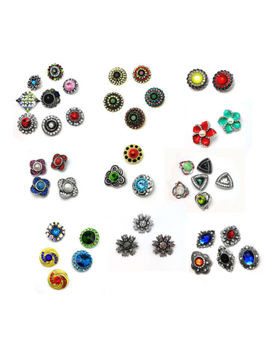 50 X Wholesale Punk Crystal Charm Snap Button Fit For Noosa Necklace/Brace<Wbr>Let  3 by Unbranded