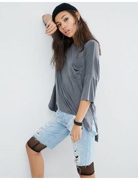 Asos T Shirt With Pocket Detail In Washed Oversized Fit by Asos Collection