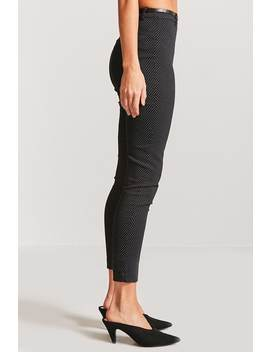High Waist Pin Dot Trousers by F21 Contemporary