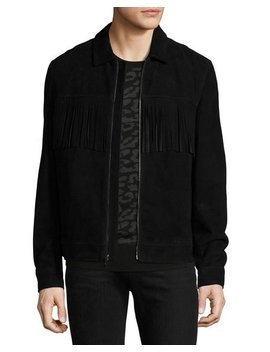 Suede Jacket W/ Fringe by Ovadia & Sons