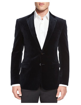 Anthony Velvet Sport Coat, Navy by Ralph Lauren