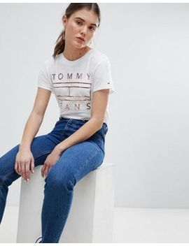 Tommy Jeans Foil Flag T Shirt by Tommy Jeans Capsule