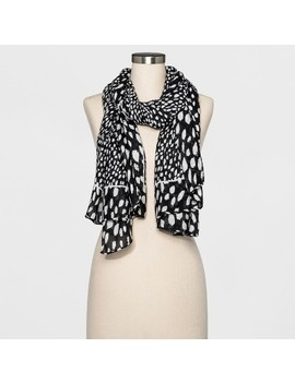 Women's Dot Oblong Scarf   A New Day™ Black/White by A New Day™