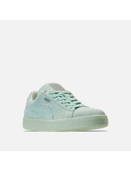 Women's Puma Suede Classic Mono Ref Iced Casual Shoes by Puma