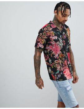 Jaded London Muscle Floral Printed Shirt by Jaded London