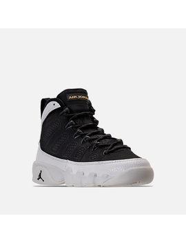 Boys' Grade School Air Jordan Retro 9 Basketball Shoes by Nike