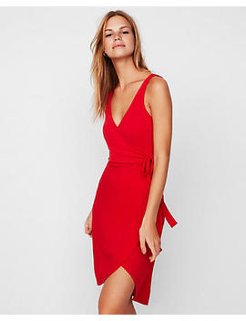 Surplice Wrap Midi Dress by Express
