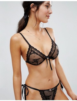 Asos Premium Pearl & Lace Triangle Bra by Asos Collection
