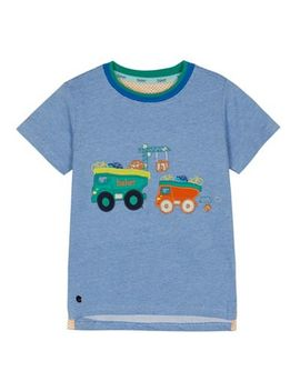 Baker By Ted Baker   Boys' Blue Vehicle Applique T Shirt by Baker By Ted Baker