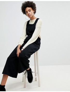 Asos White Knitted Apron Jumpsuit by Asos White