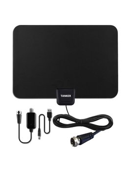 Hdtv Antenna ,Amplified Tv Antenna With Signal Booster And Indoor Digital Antenna 50 Mile Range For Tv  10 Ft High Performance Coaxial Cable by Tanker
