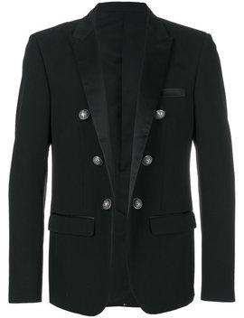 Embellished Button Blazer by Balmain
