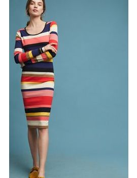 Vivid Stripe Column Dress by Plenty By Tracy Reese