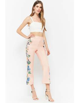 Floral Woven Capri Trousers by F21 Contemporary