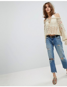 Free People Jubilee Lace And Embroidery Top by Free People
