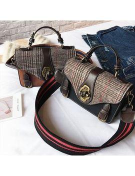 Check Shoulder Bag by Nautilus Bags