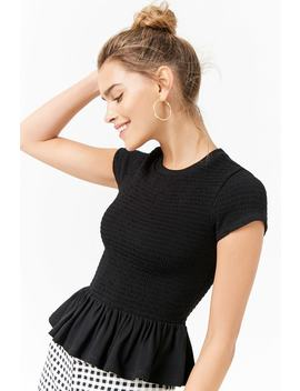 Smocked Ruffle Top by Forever 21