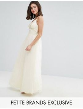 Chi Chi London Petite Strappy Corset Top Maxi Tulle Prom Dress by Chi Chi London Petite