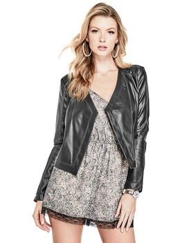 Mona Faux Leather Fringe Jacket by Guess