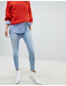 River Island Molly Light Wash Skinny Jeans by River Island