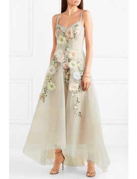 Embroidered Embellished Tulle Gown by Marchesa Notte