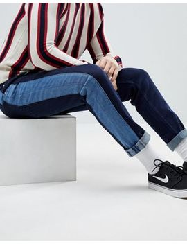 Asos Slim Jeans In Indigo With Side Stripe Insert by Asos