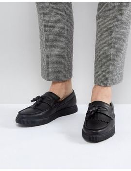 Asos Loafers In Black With Creeper Sole by Asos
