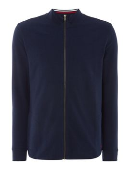 Slim Stripe Collar Zip Up Sweatshirt by Polo Ralph Lauren