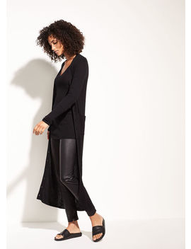 Mix Ribbed Cashmere Long Button Cardigan by Vince