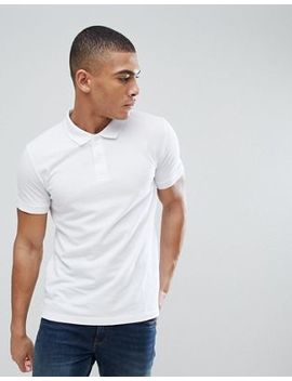 Esprit Organic Polo Shirt In White by Esprit