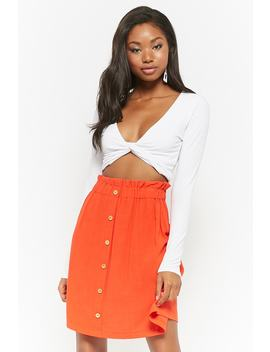 Paperbag Waist Skirt by Forever 21