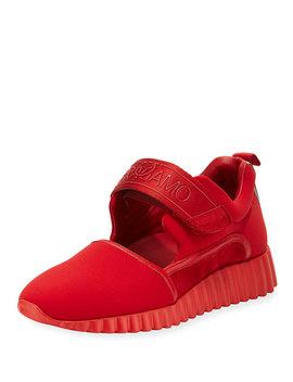 Grip Strap Platform Sneaker, Lipstick Red by Salvatore Ferragamo