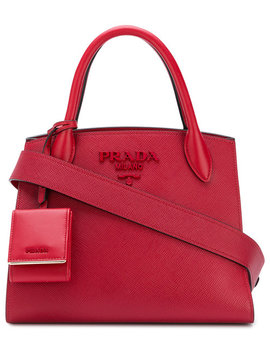 Small Bibliotheque Tote by Prada