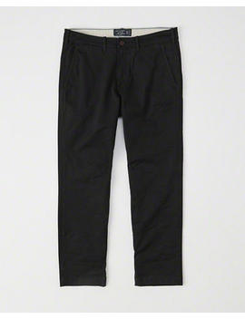 Straight Cropped Chinos by Abercrombie & Fitch