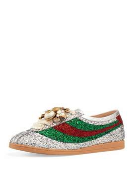Falacer Glittered Low Top Sneaker by Gucci