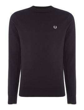 Twin Tipped Textured Crew Neck Jumper by Fred Perry