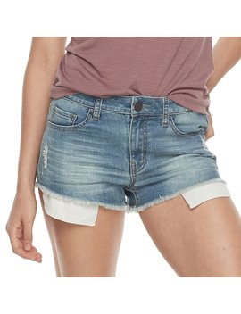 Juniors' So® Frayed Shortie Jean Shorts by Juniors' So