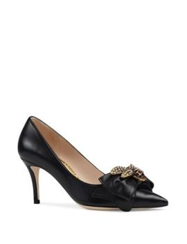 Queen Margeret Leather Pump by Gucci