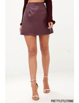 Pretty Little Thing Pu A Line Skirt by Next