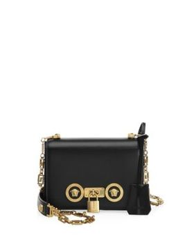Icon Small Leather Shoulder Bag by Versace