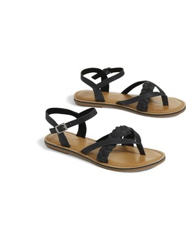 Black Leather Women's Lexie Sandals by Toms