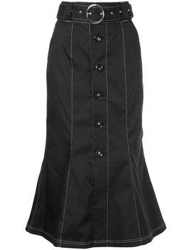 Contrast Stitch Belted Skirt by G.V.G.V.
