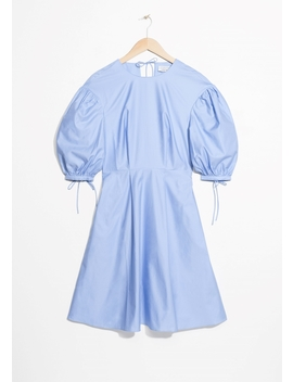 Balloon Sleeve Skater Dress by & Other Stories