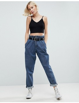 Asos Crop Cami In Rib With V Front And Back 3 Pack Save 10 Percents by Asos Collection