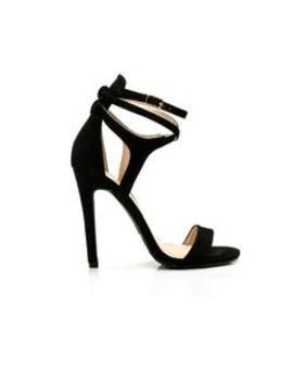 Wrapped Around My Finger Heel   Black by Fashion Nova