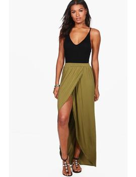 Reine Wrap Front Jersey Maxi Skirt by Boohoo